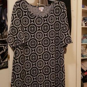 Lularoe bodycon style printed dress size 3x